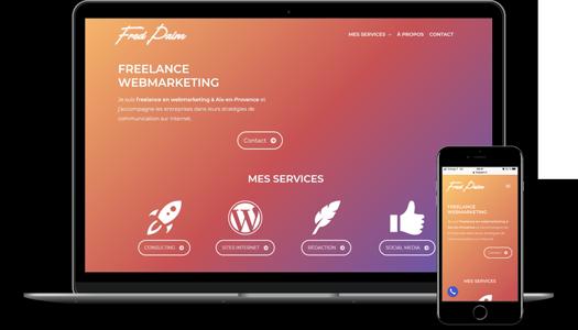Création site web freelance